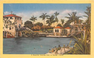 A Beautiful Venetian Pool Misc, Florida Postcard