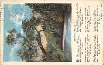 In Florida, USA Postcard