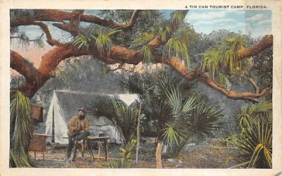 A Tin Can Tourist Camp Misc, Florida Postcard