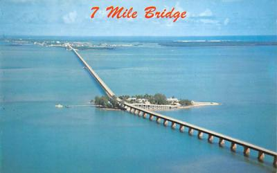 7 Mile Bridge Misc, Florida Postcard
