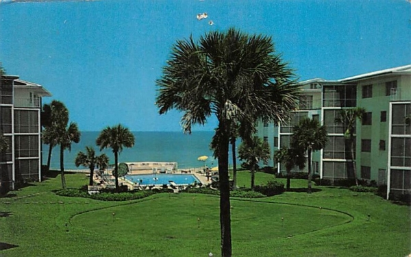 Edgewater Beach of Naples Hotel Florida Postcard