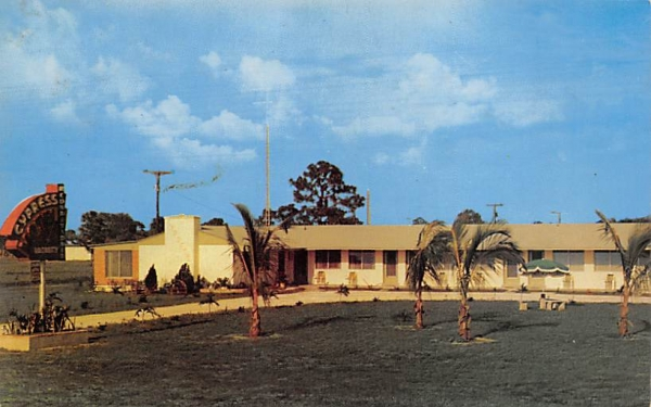Cypress Motel Naples, Florida Postcard