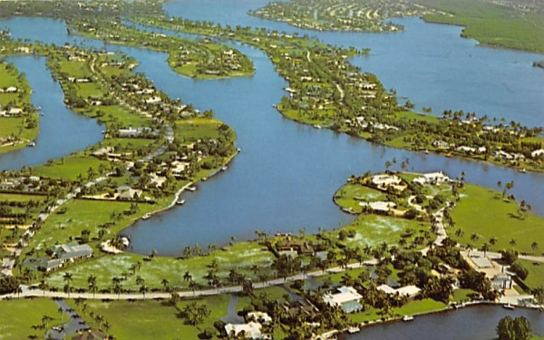 Aerial View of the Bay of Naples Florida Postcard