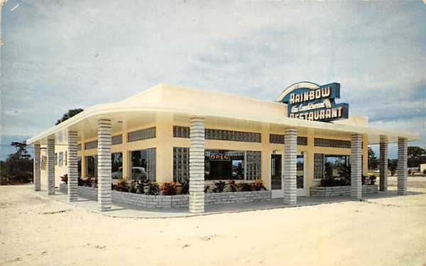 The New Rainbow Restaurant Naples, Florida Postcard