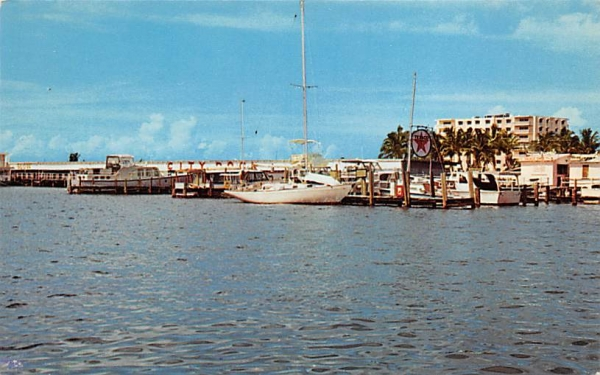 City Docks Naples, Florida Postcard