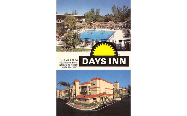 Days Inn Naples, Florida Postcard