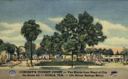 Cordrey's Tourist Court - Ocala, Florida FL Postcard