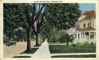 South Orange Avenue - Orlando, Florida FL Postcard