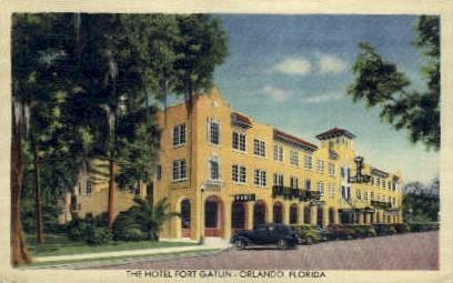 Fort Gatlin Hotle - Orlando, Florida FL Postcard