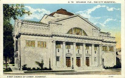 First Church of Christ Scientist - Orlando, Florida FL Postcard