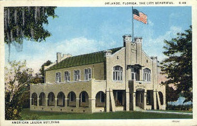 Ameridcan Legion Building - Orlando, Florida FL Postcard