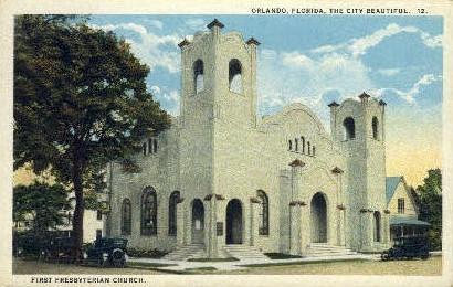 First Presbyterian Church - Orlando, Florida FL Postcard
