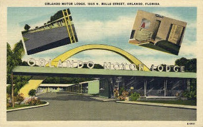 Orlando Motor Lodge - Florida FL Postcard