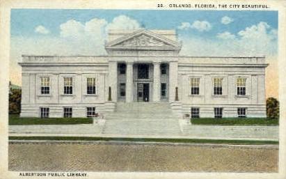 Albertson Public Library - Orlando, Florida FL Postcard