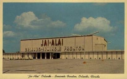 Jai-Alai - Orlando, Florida FL Postcard