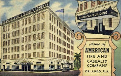 American Building - Orlando, Florida FL Postcard