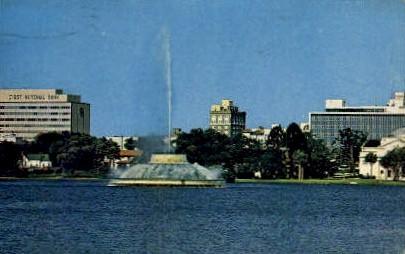 Centennial Fountain - Orlando, Florida FL Postcard