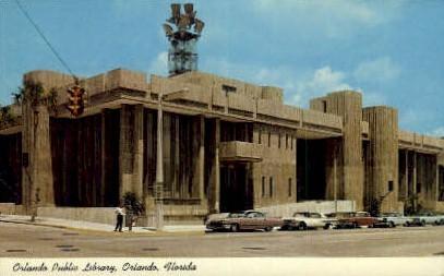 Orlando Public Library - Florida FL Postcard