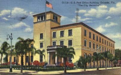 Post Office - Orlando, Florida FL Postcard