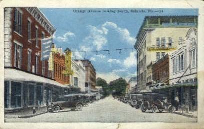 Orange Avenue - Orlando, Florida FL Postcard