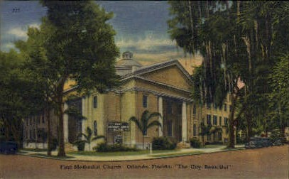 First Methodist Episcopal Church - Orlando, Florida FL Postcard