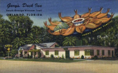 Gary's Duck Inn - Orlando, Florida FL Postcard