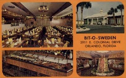Bit-O-Sweden - Orlando, Florida FL Postcard