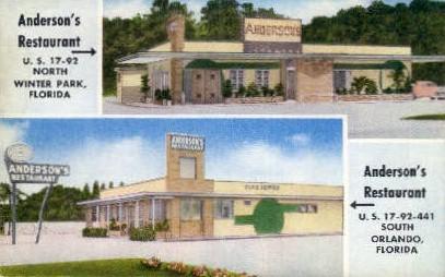 Anderson's Restaurant - Orlando, Florida FL Postcard