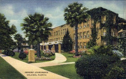 Amherst Apartments - Orlando, Florida FL Postcard