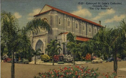 St. Luke's Episcopal Cathederal - Orlando, Florida FL Postcard