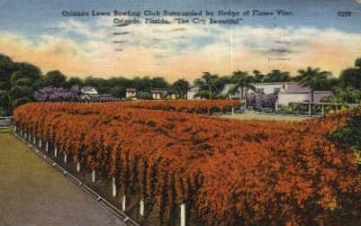 Lawn Bowling Club - Orlando, Florida FL Postcard