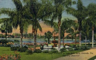 Lake Eola Park - Orlando, Florida FL Postcard