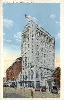San Juan Hotel - Orlando, Florida FL Postcard