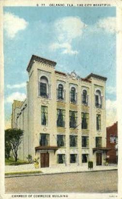 Chamber of Commerce Building - Orlando, Florida FL Postcard