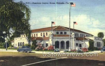 American Legion Home - Orlando, Florida FL Postcard