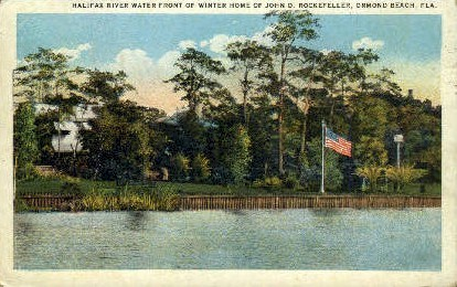 Halifax River - Ormond Beach, Florida FL Postcard