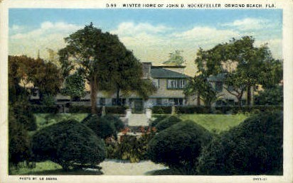 Rockefeller Residence - Ormond Beach, Florida FL Postcard
