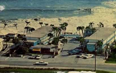 Aqua Terrace Motel - Ormond Beach, Florida FL Postcard