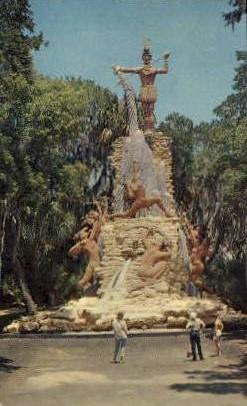 Giant Chief Tomoka - Ormond Beach, Florida FL Postcard