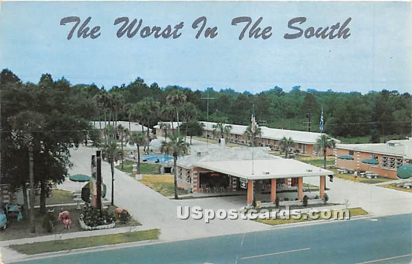 Thomas Motel & Restaurant - Ormond Beach, Florida FL Postcard