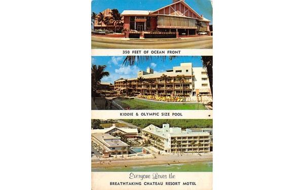 Chateau Resort Motel Ormond Beach, Florida Postcard