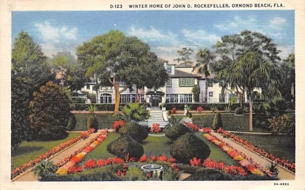 Winter Home of John D. Rockefeller Ormond Beach, Florida Postcard
