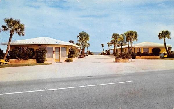 Oceanic Motel Ormond Beach, Florida Postcard