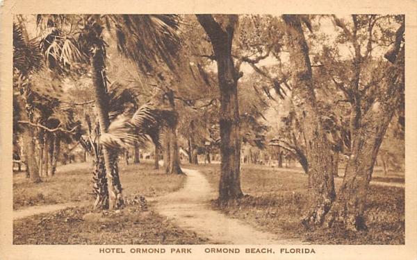 Hotel Ormond Park Ormond Beach, Florida Postcard