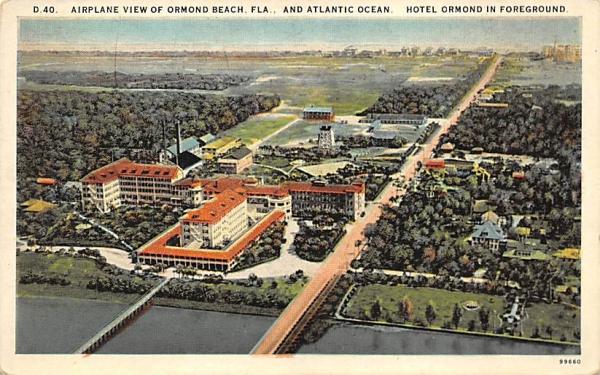 Ormond Beach, FL, USA, and Atlantic Ocean Florida Postcard