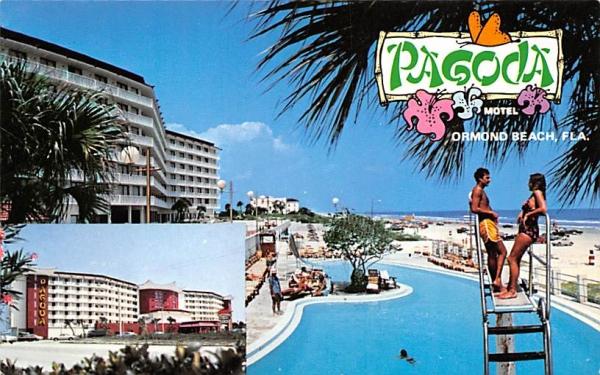 Pagoda Resort Motel Ormond Beach, Florida Postcard