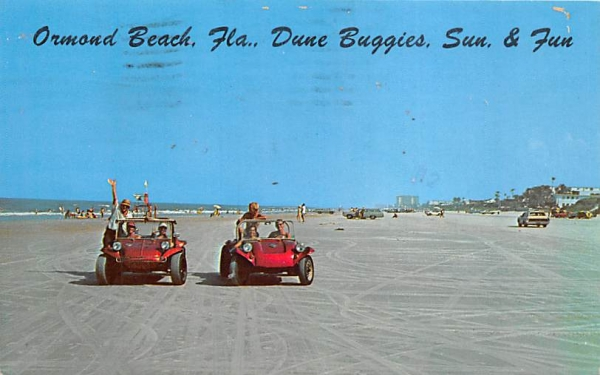 Dune Buggies, Sun & Fun Ormond Beach, Florida Postcard