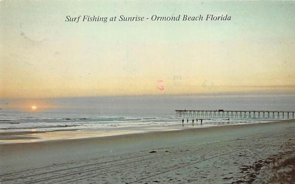 Surf Fishing at Sunrise Ormond Beach, Florida Postcard