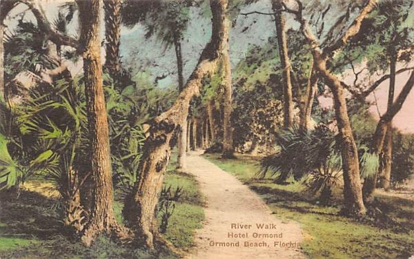 River Walk, Hotel Ormond Ormond Beach, Florida Postcard