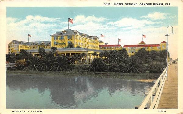 Hotel Ormond Ormond Beach, Florida Postcard
